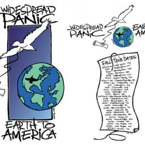 Widespread Panic Earth To America T-SHirt 2006