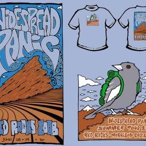 Widespread Panic Red Rocks 2008 T-Shirt