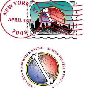 Bob Weir & RatDog Stamp Art NY 2008