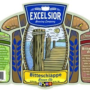 Excelsior Beer Bitteschlappe Label