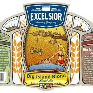 Excelsior Beer Big Island Blond Label