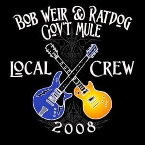 Ratdog & Gov't Mule Crew Shirt 2008