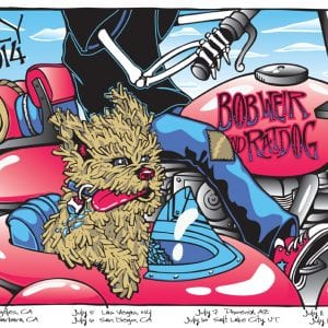 Bob Weir & Ratdog July 2014 Tour Poster
