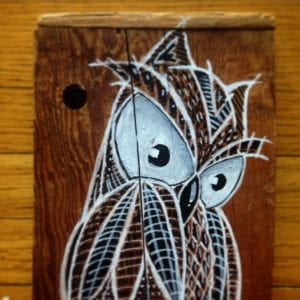 Brown Owl On Wood