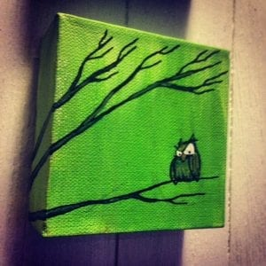 Green Owl Green Sky