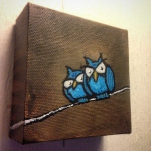 Two Blue Owls
