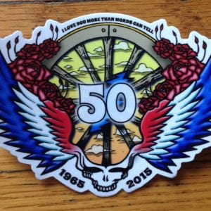 Grateful Dead 50th Anniversary Sticker