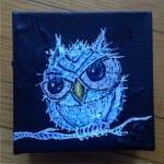 White Fuzzy Owl Painting