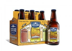 Excelsior Brewing Company Blond 6 Packaging and Labels
