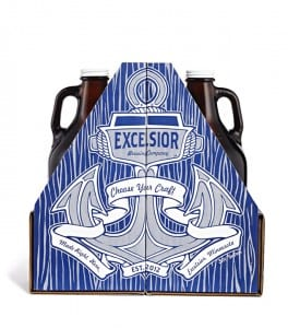 Excelsior Brewing Company Growler Carrier Packaging