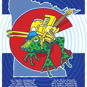 Frogleg Winter Tour 2016 Poster