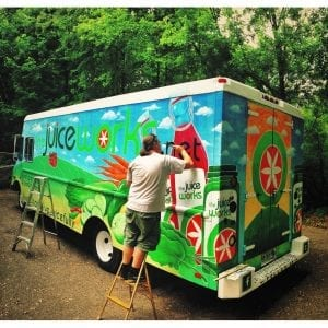 Hand Painted Juice Truck
