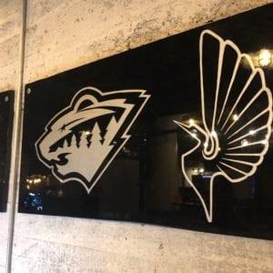 Basement Bar Sports Logo Close-Up