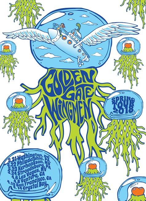 Golden Gate Wingman Tour Art 2018
